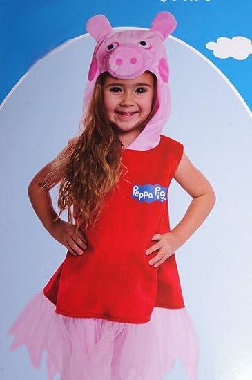 Amazoncom Girls Peppa Pig Costume 3t 4t Clothing