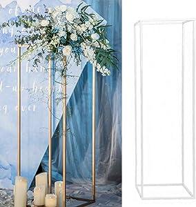 Erthree Metal Vase Column Stand Geometric Vases Props Rustproof Flower Rack Iron Detachable for Wedding Party Decoration