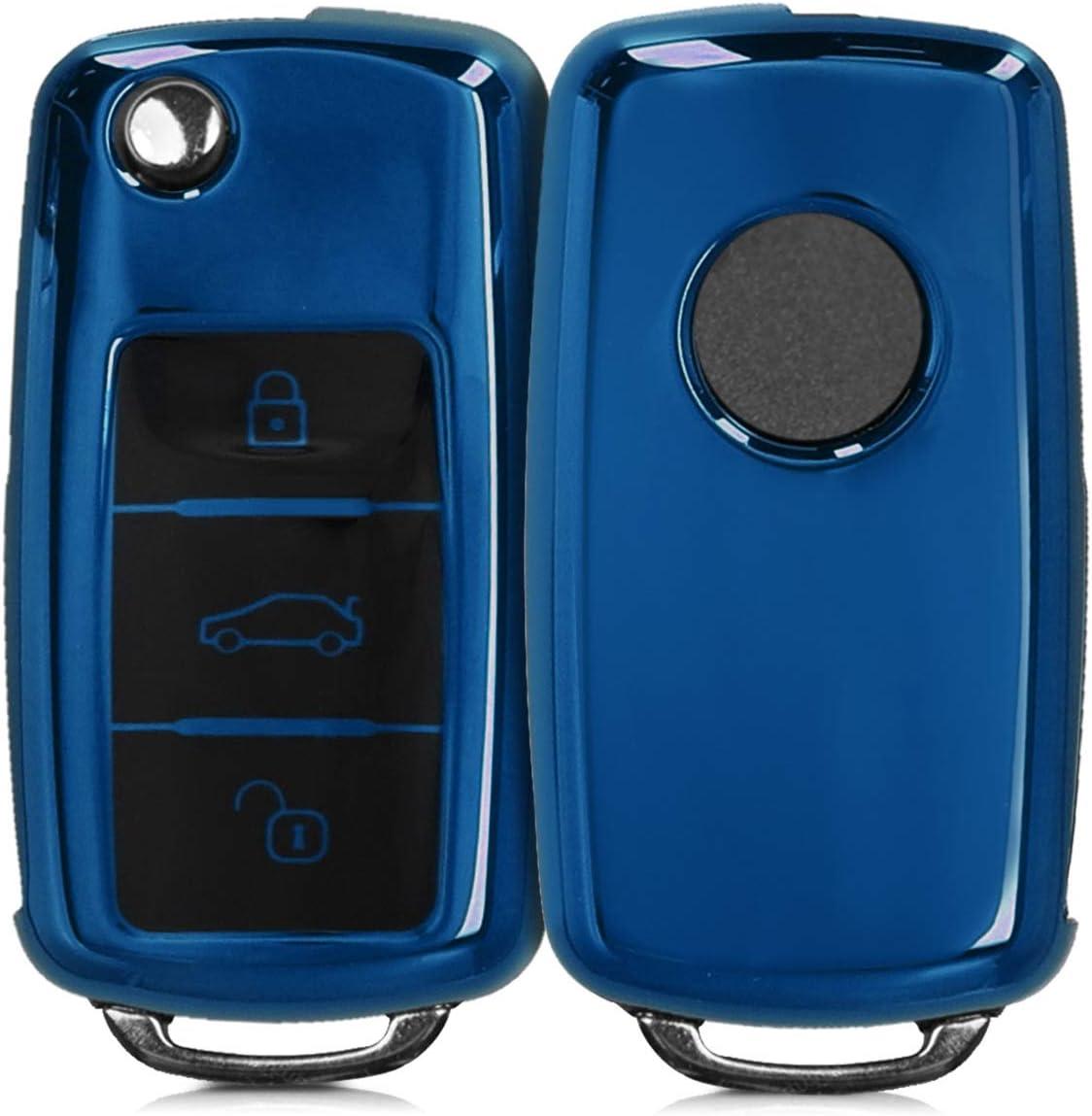 kwmobile Funda para Mando Compatible con VW Skoda Seat Llave de Coche de 3 Botones: Amazon.es: Electrónica