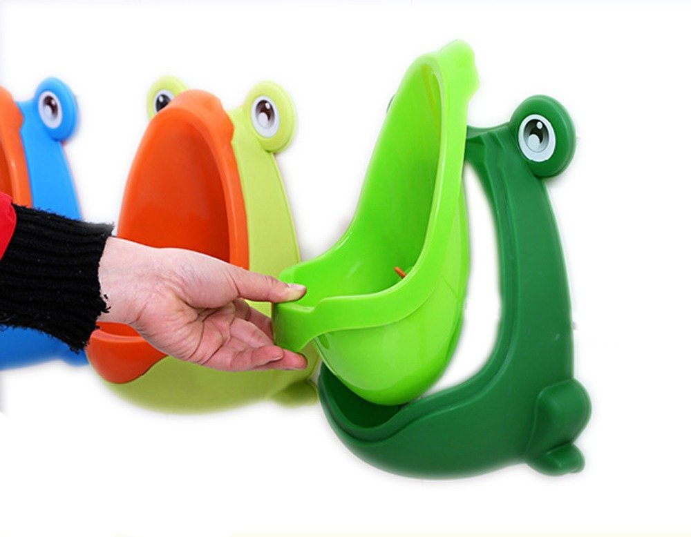 867b8fbb08964 Foryee Cute Frog Potty Training Urinal for Boys with Funny Aiming Target - Blackish  Green - UTB15001B   Potties   Seats   Baby Products - tibs