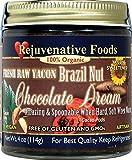 Organic Yacon-Sweet Brazil-Nut Raw-Chocolate-Dream Rejuvenative Foods Pure Fresh Dairy-Free Antioxidants StoneGround 100%-USDA-Certified-Organic white-sugar-free Fudge Candy-in-Glass-9 oz