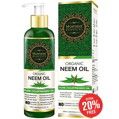 Morpheme Pure Organic Neem Oil ColdPressed & Undiluted 120