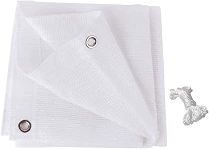 Shade Sails toldo Blanco Impermeable con protección contra Rayos UV, toldo, toldo, pérgola para Exteriores, toldos, toldos, toldos para Fiestas de jardín de 4 x 3 m: Amazon.es: Jardín