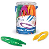 Learning Resources Jumbo Tweezers, Sorting & Counting, Toddler Fine Motor Skill Development,  Set Of 13