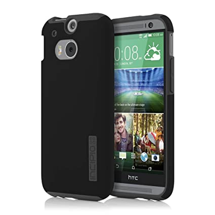 competitive price bf271 f79d0 Incipio HTC One M8 Case - Dualpro Tough Protection Two Piece Plastic and  TPU Slim Cover - Black/Gray