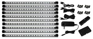 Super Deluxe Pro Series 21 LED Kit |Inspired LED | Under Cabinet Lighting | 24 Watt 12V DC | Warm White ~3000 K 145 lm/ft