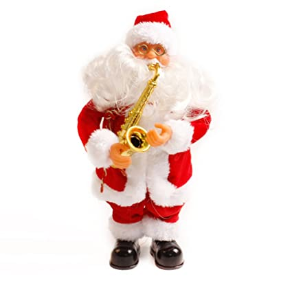 Amazon.com: Santa Claus Figure Electric Music Singing Toy Christmas ...