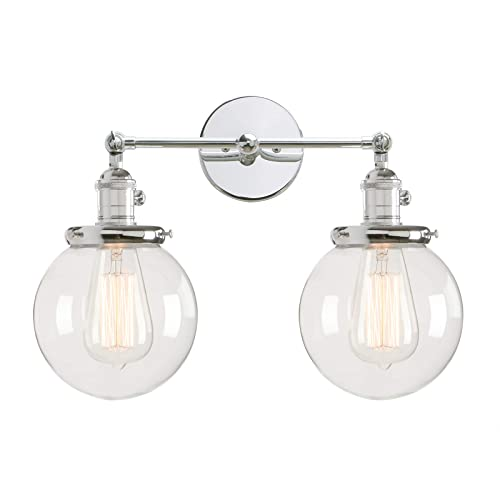 glass light globes outdoor light permo double sconce vintage industrial antique 2lights wall sconces with dual mini 59 light globes amazoncom