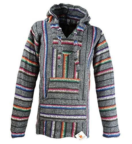 Funny Guy Mugs Premium Baja Hoodie Sweatshirt Pullover Jerga Poncho (The Shire, X-Large)