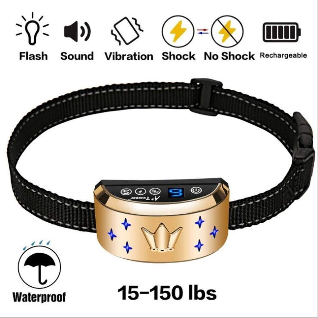 HBHS Compatible Remote dog training collar, waterproof and rechargeable 4 modes are shockless and userfriendly compatible