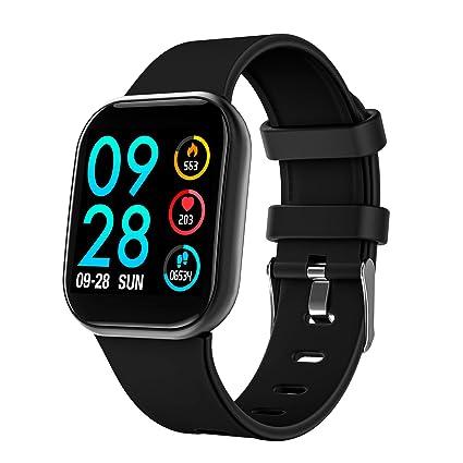 COULAX Montre connectée Bluetooth Homme Femme Enfant smartwatch Intelligent Bracelet connecté Multifonction étanche IP67 Sport podomètre fréquence ...