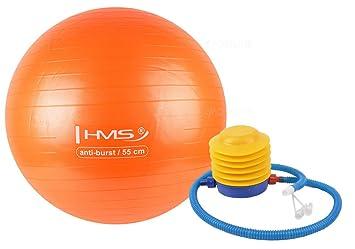 Pelota de gimnasia, pelota de fitness YB02 55 cm + bomba de aire ...