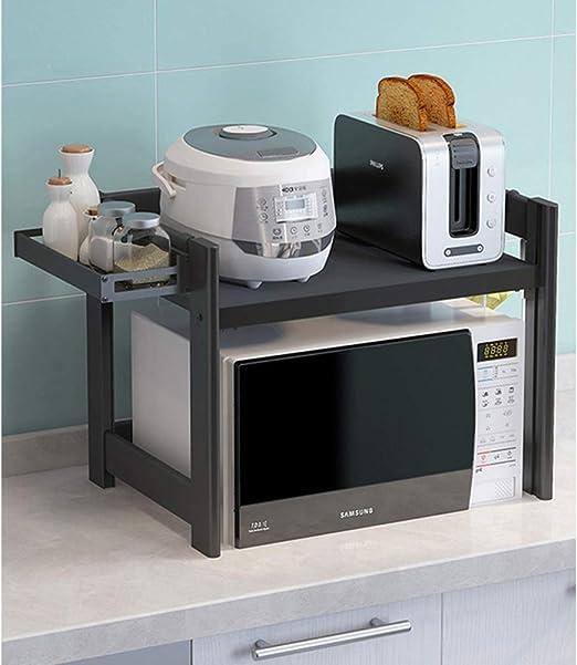 Aluminio Estantería Microondas Encimera, Cocina Almacenamiento ...