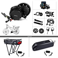 BAFANG BBSHD BBS03 48V 1000W Mid Motor Ebike Conversion Kit with Large Capacity Lithium Battery 17.5Ah and Charger DIY Electric Bike Motor Kit
