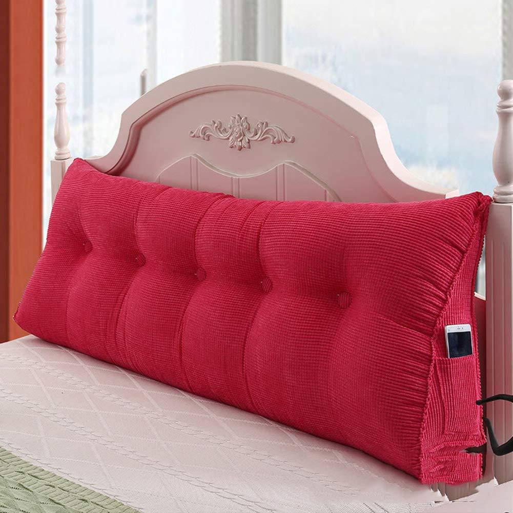 Comfort bed wedge cuscino-divano letto ufficio sedia resto cuscino, Lettura cuscino Triangolo solido Cuscini Imbottita Testata letto Cuscino testiera schienale Rimovibile Tatami-A 21x45x60cm(8x18x24) DNBFGYRGYIJSDHU