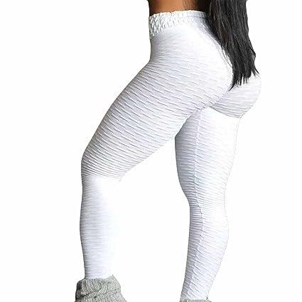 Modaworld Mallas Pantalones Deportivos Leggings Mujer Yoga de Alta Cintura Elásticos y Transpirables para Yoga Running Fitness Leggins Mujer Fitness ...