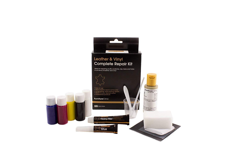 Furniture Clinic Leather & Vinyl Repair Kit - Best Leather Repair Kit for  Couches, Car Seats & Furniture - Fix Damaged Vinyl, Leather - Quickly  Repair