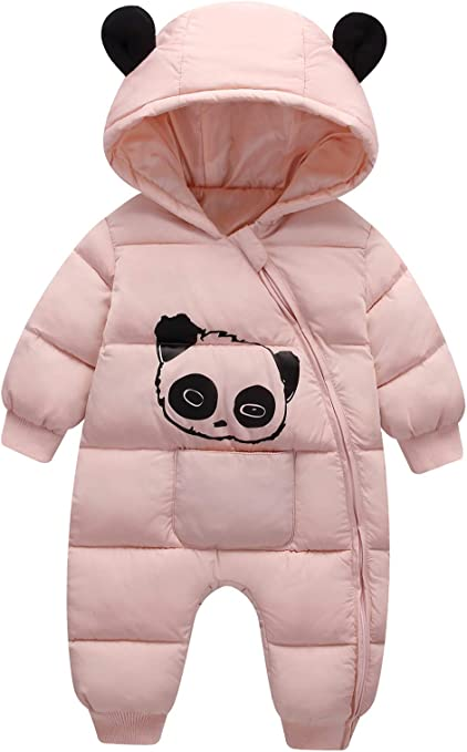 FEOYA Baby Snowsuit Boy Girl Down Jacket Kid Coat Winter Clothes Romper Hoodie Infant Outwear Toddler 3-24 Months