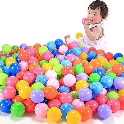 Yuege 100pcs/200pcs/400pcs Play Balls Colorful Ball Fun Ball Soft Plastic Ocean Ball Baby Kid Toy Swim Pit Toy Kids Ball Pit Ball Tent Toddler Ball Pit for Toddlers Pets [Ship from USA] (200 pcs): Sports & Outdoors
