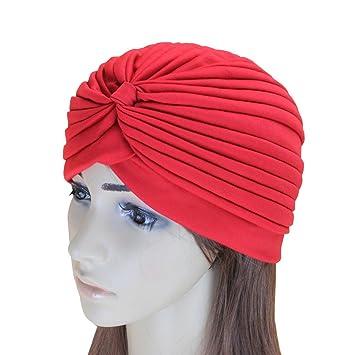 LIOOBO Sombrero de Turbante Indio Gorra de Cuello Alto con ...