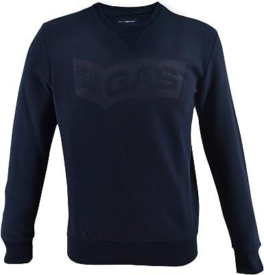 Gas Jeans Sven/S Front Sudadera 95292 Brushing Fleece Polu 0194 Navy Blue S: Amazon.es: Ropa y accesorios
