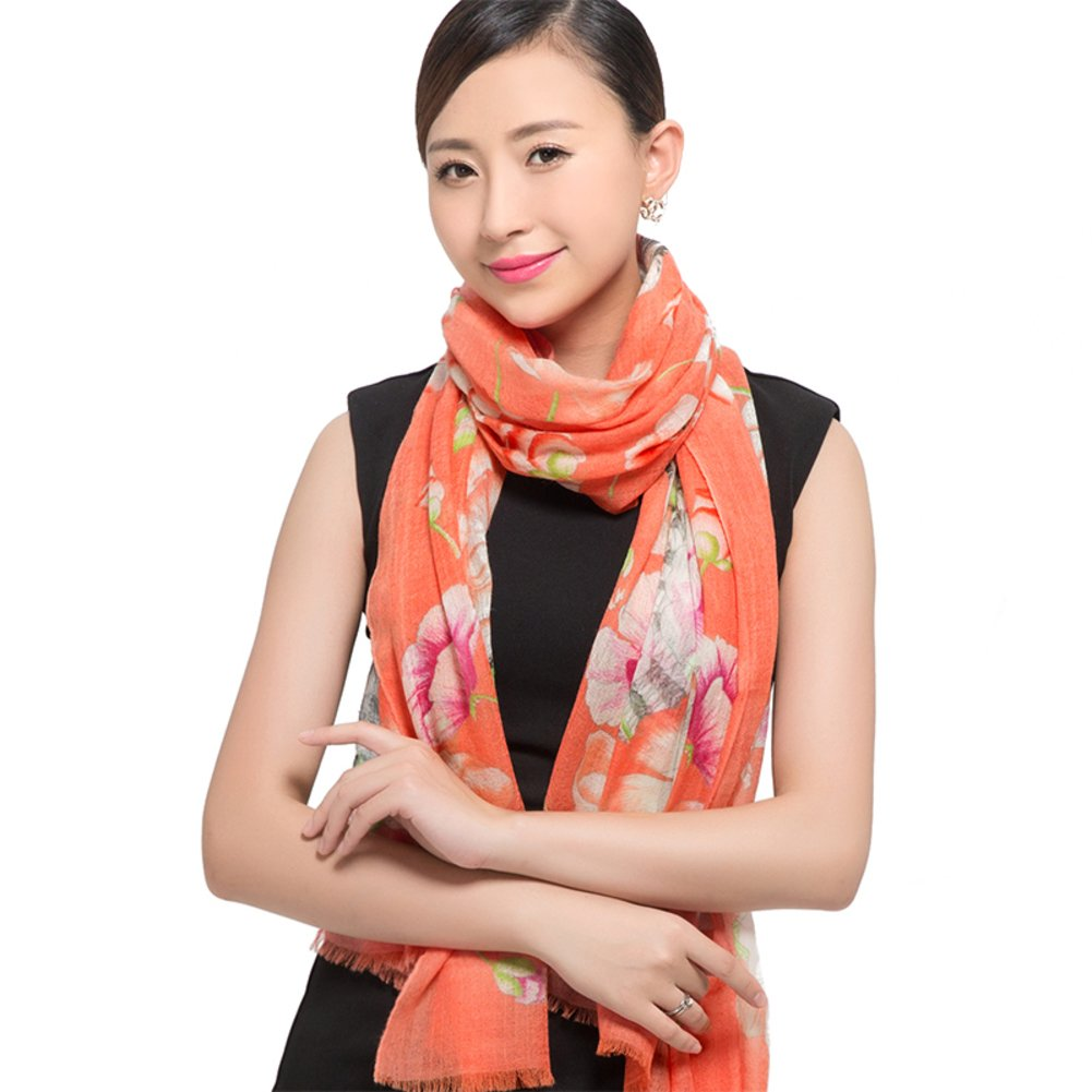 Scarf Shawl Dual-use ladies long wild in autumn and winter scarves-A One Size