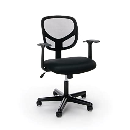 amazon com essentials swivel mid back mesh task chair with arms