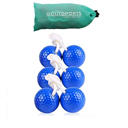 Goutosports Ladder Toss Replacement Balls for Ladder Toss Game with Real Golf Ball (3 Pack