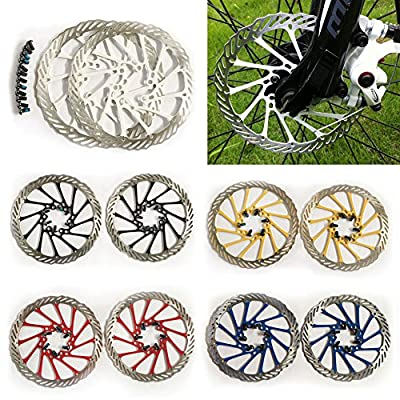 XHSPORT 2pcs Bicycle MTB Bike Disc Brake Rotor 160mm with 6 Bolts For Avid G3 CS Clean Sweep