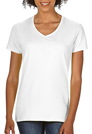 5d64bab288 Image Unavailable. Image not available for. Color: Gildan Heavy Cotton  Ladies' V-Neck T-Shirt ...
