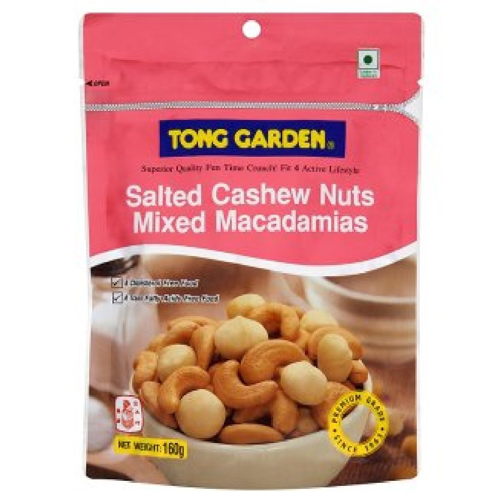 Tong Garden Salted Cashew Nuts Mixed Macadamias Snack 160 G.