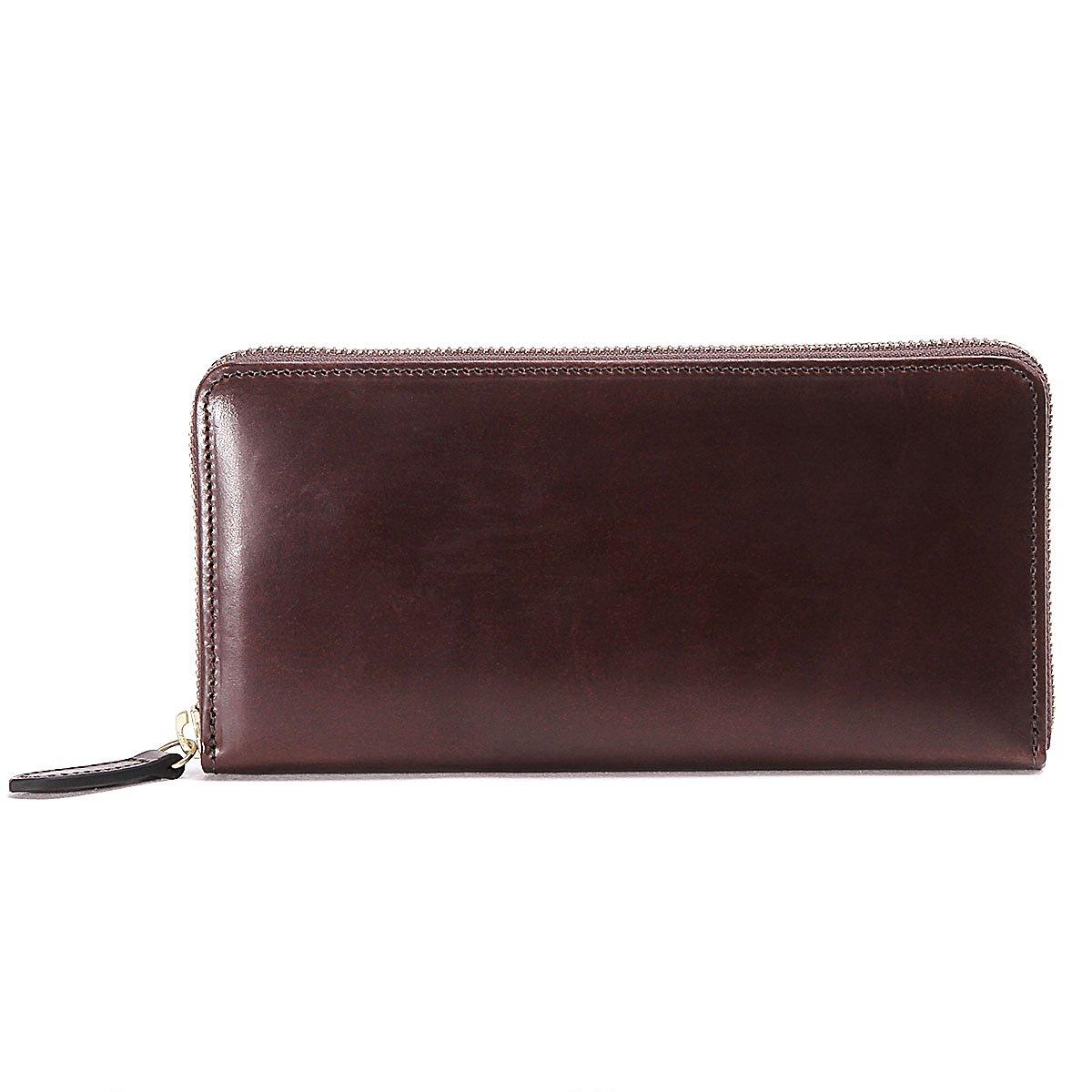 スロウ 長財布 round long wallet herbie SO659G B07FYL42DV  レッドブラウン