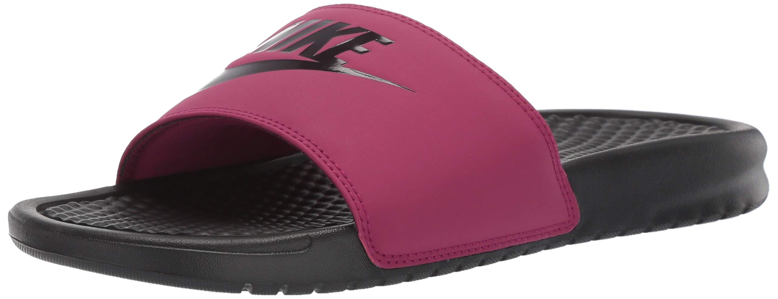 Nike Women's Benassi Just Do It Sandal, True Berry/Burgundy ash, 7 Regular US