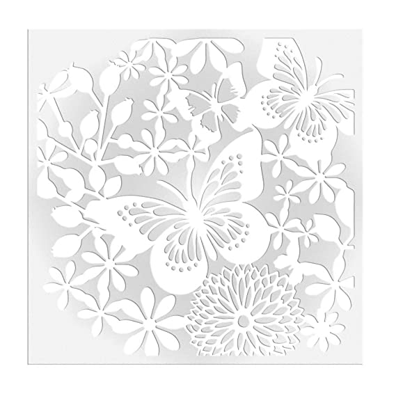 CRAFTERS COMPANION IMAGINATION CRAFTS BOTANICAL DESIGN STENCIL