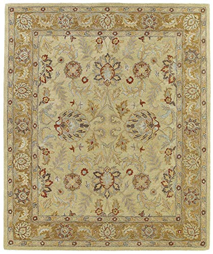 Ivory 05 Rug By (Kaleen Rugs Solomon Collection 4053-05 Gold  Hand Tufted 5' x 7'9