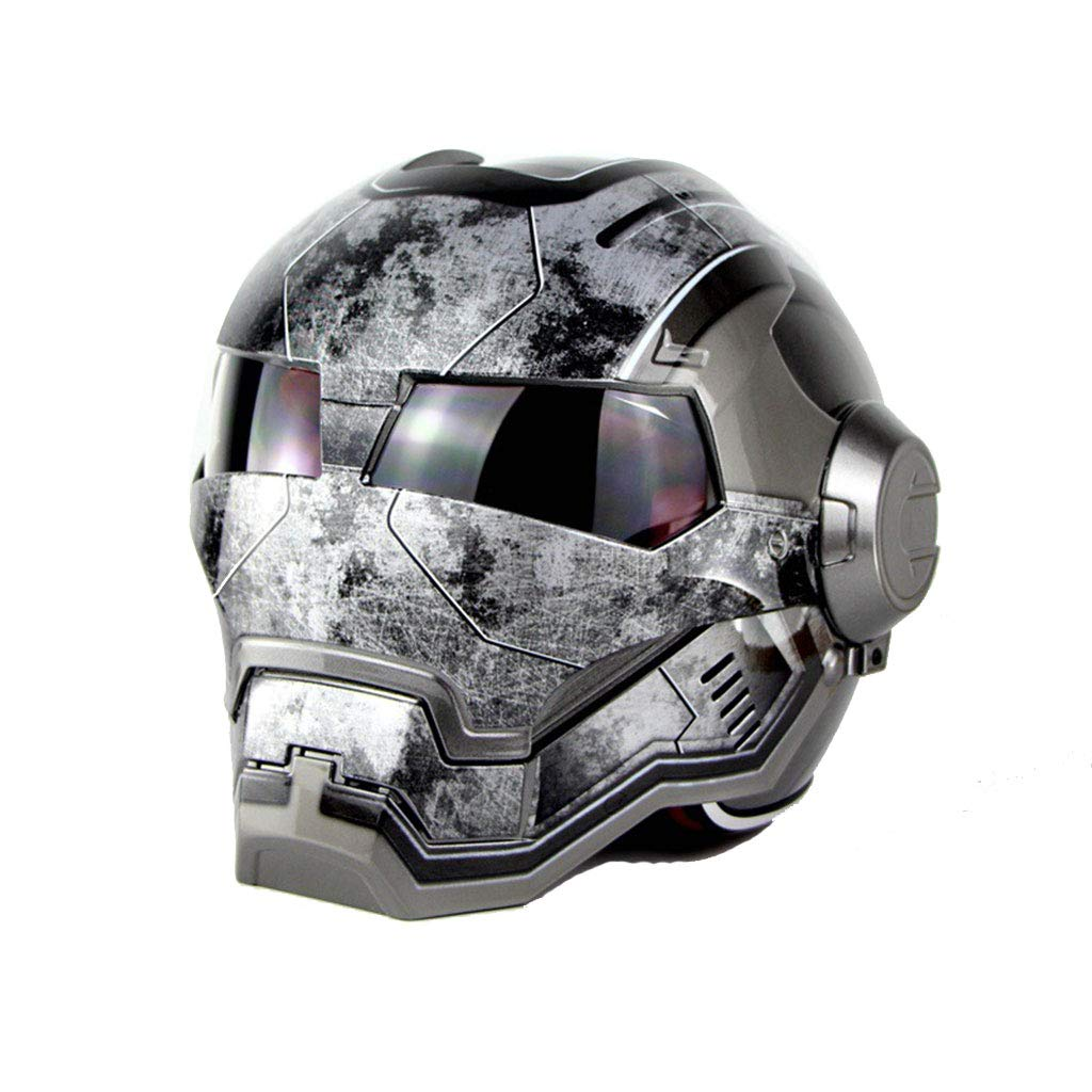 Lsrryd Casco de Motocicleta Iron Man Casco Integral ECE Certified Road Race (Color : F, Tamaño : XXL 61-62cm): Amazon.es: Hogar