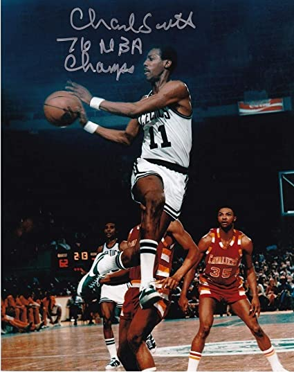 cbafe55b1 Charlie Scott Boston Celtics 76 NBA Champs Action Autographed Signed 8x10