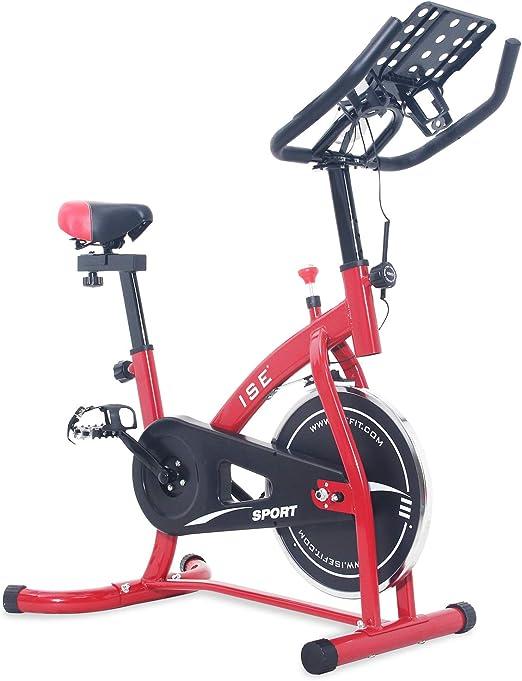 ISE Bicicleta Estática de Spinning con Sensor de Pulso, Ajustable ...