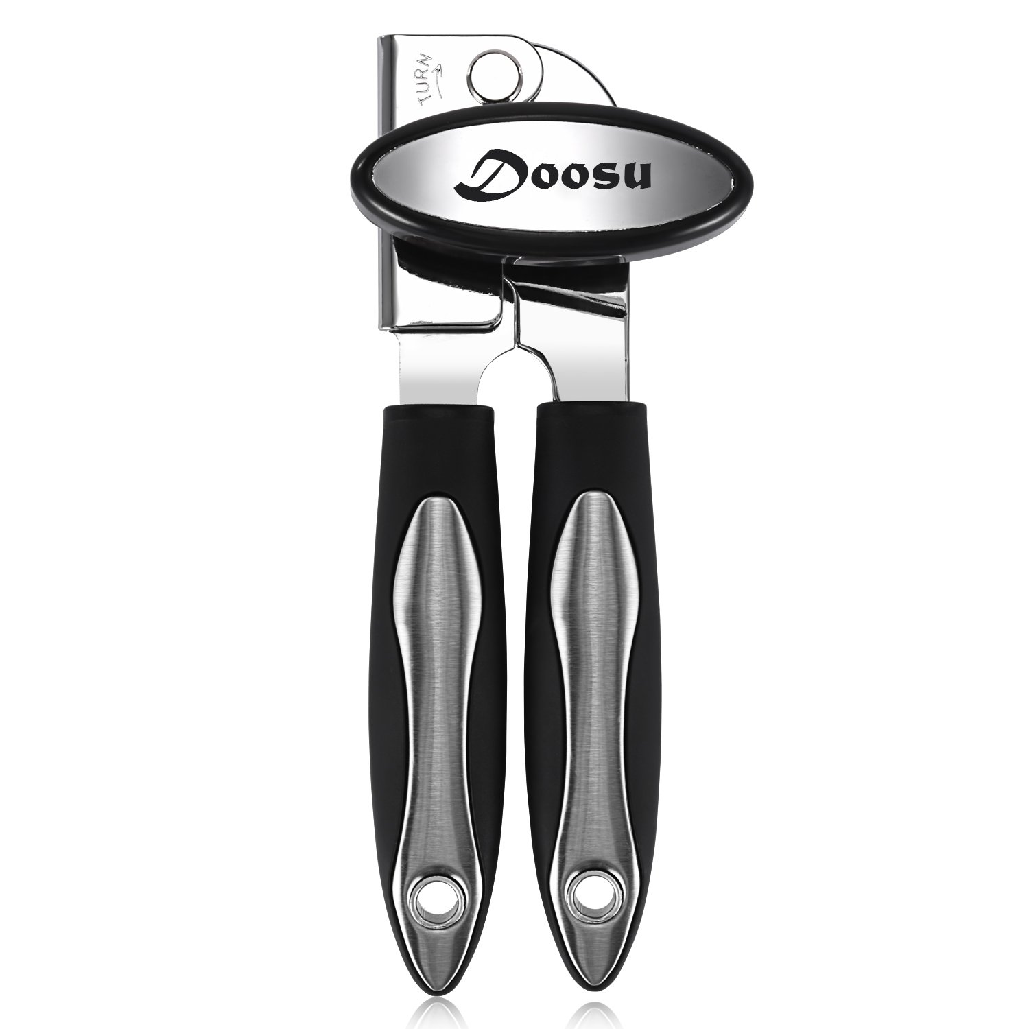 Can Opener Manual, U-Taste Good Grip Can Opener with Extra Sharp Blade, Heavy Duty Stainless Steel Can Opener COTD