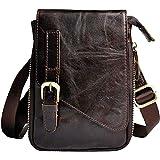 Small Leather Shoulder Bag for Men Women Hook Loop Holster Belt Waist Fanny Pack Daypacks
