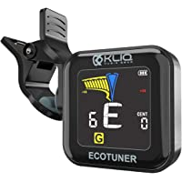 KLIQ EcoTuner - USB Rechargeable Clip-On Tuner (with included charging cable) - with Guitar, Ukulele, Violin, Bass…