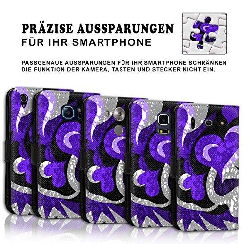 Wallet Book Style Flip Handy Tasche Case Schutz Hülle Schale Motiv Etui für Apple iPhone 5 / 5S - Design Flip MVD259