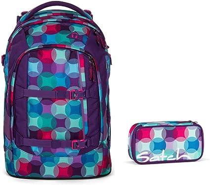 satch Pack Schulranzen Rucksack Schulrucksack Tasche Waikiki Blue Blau Pink