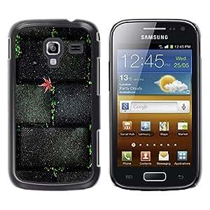 TopCaseStore / la caja del caucho duro de la cubierta de protección de la piel - Stone Brick Wall Street Texture - Samsung Galaxy Ace 2 I8160 Ace II X S7560M