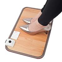 WUJIU Elektrischer Fußwärmer, Fußbodenheizung Film Fußwärmer Für Untertisch Büro/Stecker Heizmatte Büro Heizkissen Warmfüße Thermostat,50 * 30Cm