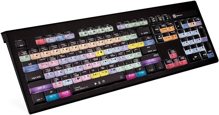LogicKeyboard Astra Adobe After Effects CC Backlit Mac Keyboard, 104 (ANSI) / 105 (ISO) Keys, American English