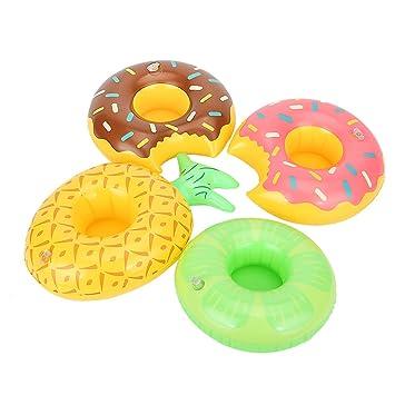 Aufblasbarer Donut Getränkehalter Becherhalter Flaschenhalter Party Drink Holder Kinderbadespaß
