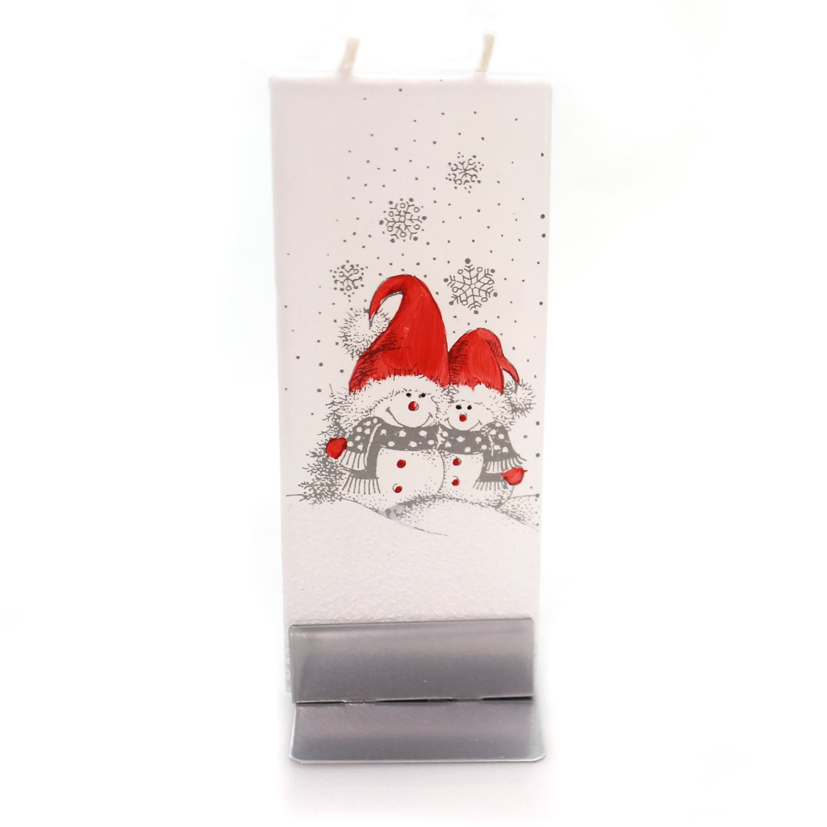 Christmas Snowmen with RED Hats Wax Dripless Fragrance Free F1616