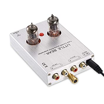 nobsound Little Bear T7 6j1 vacío Tubo Mini Phono Stage Preamp; RIAA mm Tocadiscos preamplificador; Hi-Fi Stereo Tube preamplificador (Plata)