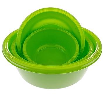 3er Set Kunststoff Schüssel Salatschüssel Allzweck-Schüssel quadratisch 2,5L